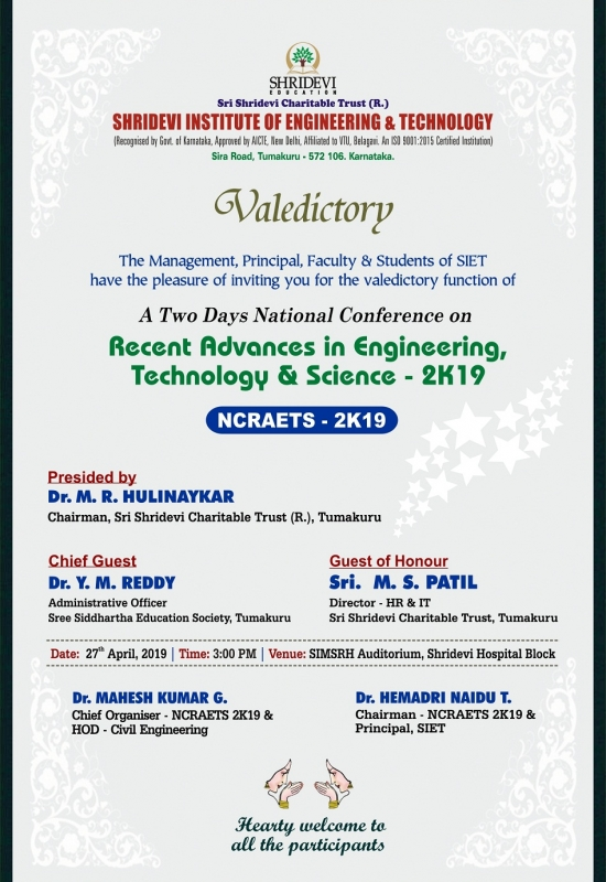 NCRAETS-2019 valedictary